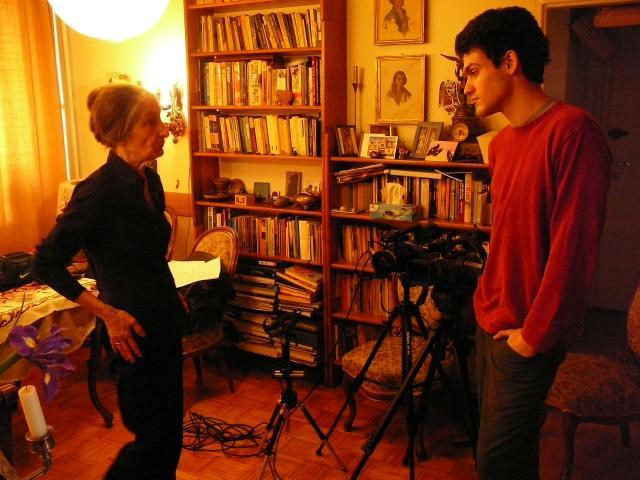 Na planie: Michał Grosz i bohaterka filmu